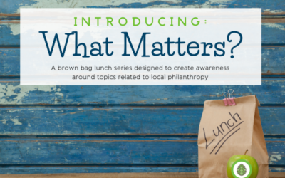 New program – What Matters?