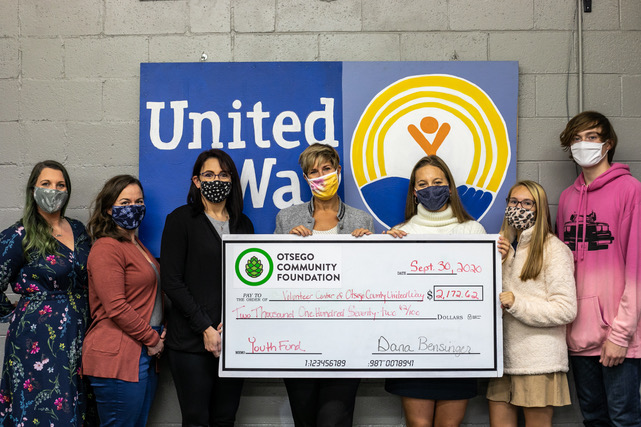 Youth Advisory Grants Over $2,000 to the Volunteer Center of the Otsego United Way