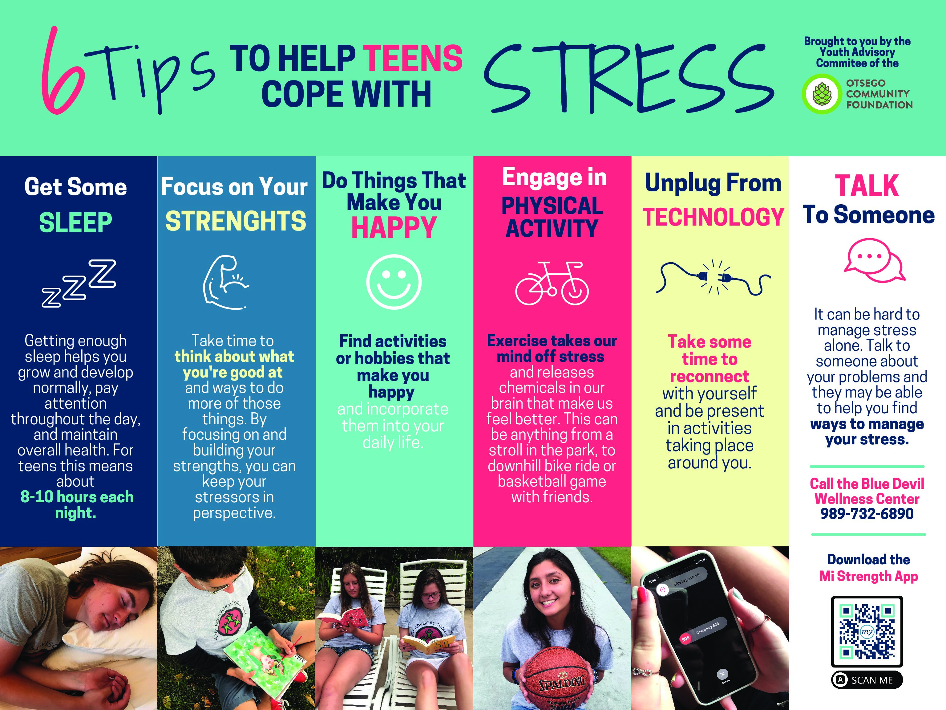 YAC Proactive Grant: 6 Tips to Help Teens Cope With Stress